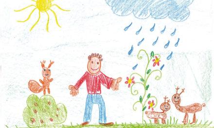 Égi és földi őrzők: állatok és virágok a gyermekrajzokon
