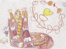 Ünnep – a gyermekrajzokon