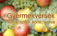 Gyermekvers és mondóka: alma, szilva, körte, szőlő