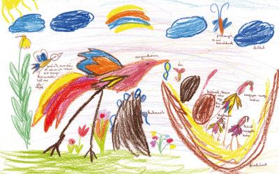 Madaras gyermekrajzok